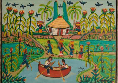 Antoine Montes · Rowboat on Pond