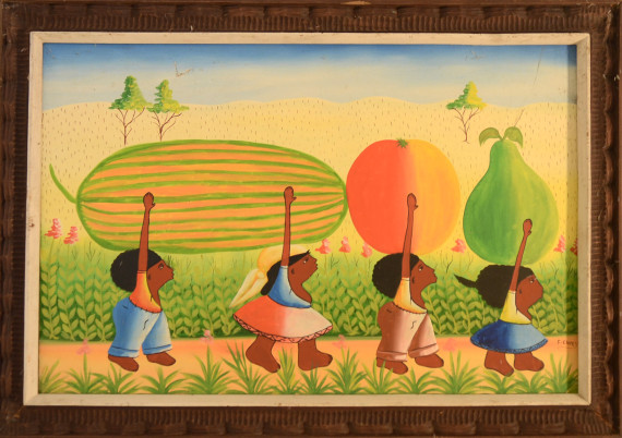 Chery Fritz Jean · Four Children Carry Fruit