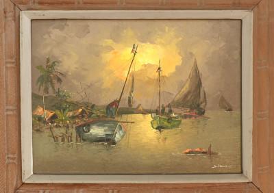 Pluvoise · Boats at Dusk