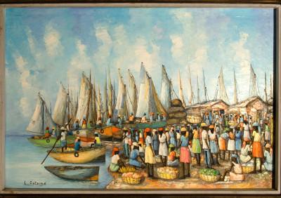 Antoine L · Boats behind Market