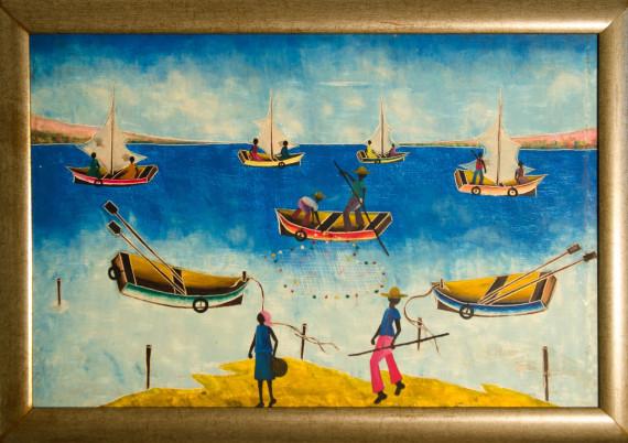 Romey · Fishing among Boats