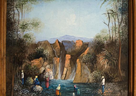 Huzos Haylyz · Washing at Waterfall