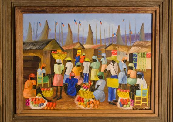 Tiercine · Market Scene by Boats